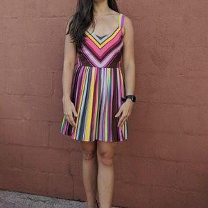 Multi Color Pleated Dress